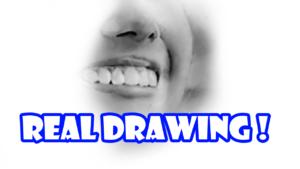 鉛筆画のリアル絵でほうれい線の描き方