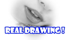 鉛筆画のリアル画で唇を描く方法