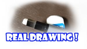 鉛筆画のリアル絵で使う消しゴム