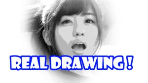 鉛筆画のリアル絵で階調化の原画を作成する方法