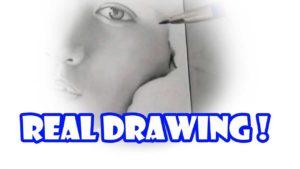 リアル絵の鉛筆画で頬の描き方のコツ