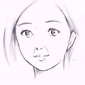 リアルな絵の描き方-ほうれい線の書き方2