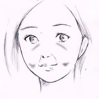 リアルな絵の描き方-ほうれい線の書き方6