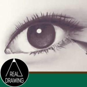 リアルな絵の描き方-目の書き方サムネイル-セピア