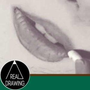 唇の絵の書き方-リアルな鉛筆画の描き方サムネイル-セピア