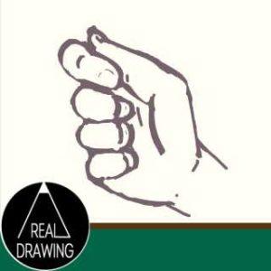 握った手の絵の書き方サムネイル
