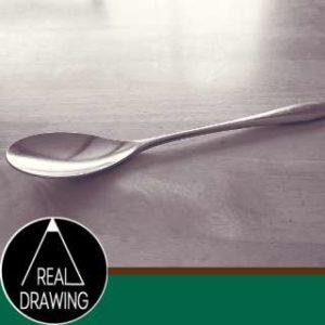 絵の書き方-スプーンのスケッチの方法サムネイル