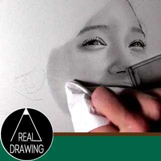 鉛筆画のリアルな絵の描き方-顔の肌の書き方サムネイル