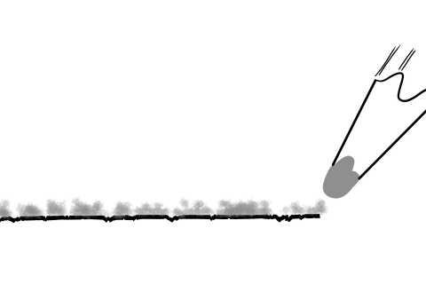 リアルな絵のぼかし方-鉛筆の芯ののり方解説画像1