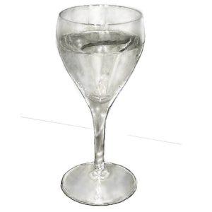リアルな絵のワイングラスのぬり絵線画無し完成