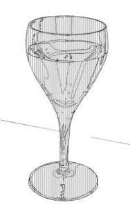 リアルな絵のワイングラスのぬり絵1