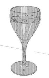 リアルな絵のワイングラスのぬり絵2
