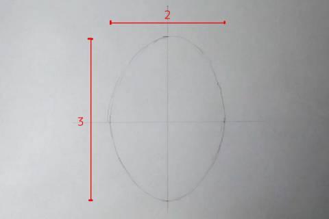 リアル絵の顔のアタリの描き方画像1