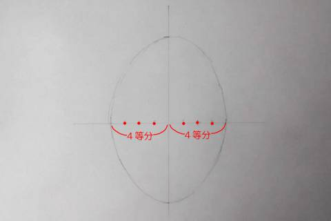リアル絵の顔のアタリの描き方画像2