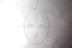 リアル絵の顔のアタリの描き方画像5