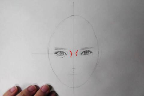 リアル絵の顔のアタリの描き方画像6