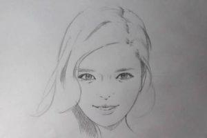 リアル絵の顔のアタリの描き方画像9