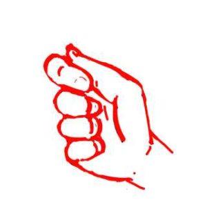 握った手の絵の書き方7