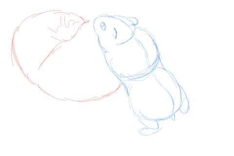 簡単イラストの描き方-ハムスターの書き方5
