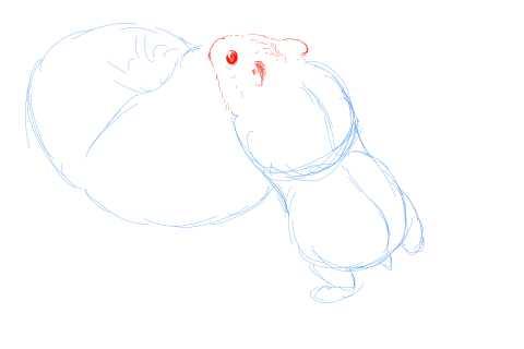 簡単イラストの描き方-ハムスターの書き方6