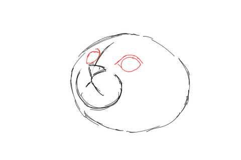 簡単イラストの描き方-子猫の書き方4