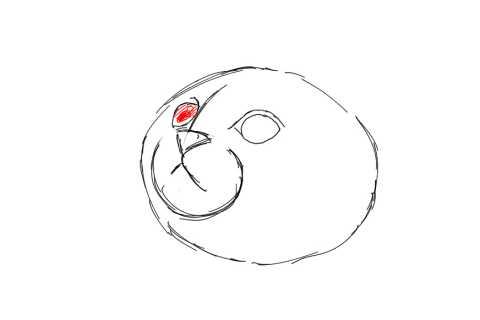 簡単イラストの描き方-子猫の書き方6