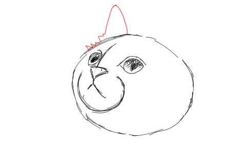 簡単イラストの描き方-子猫の書き方8