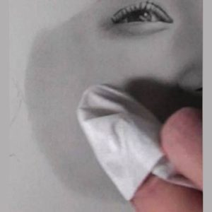 鉛筆画のリアルな絵の肌のぼかし方10