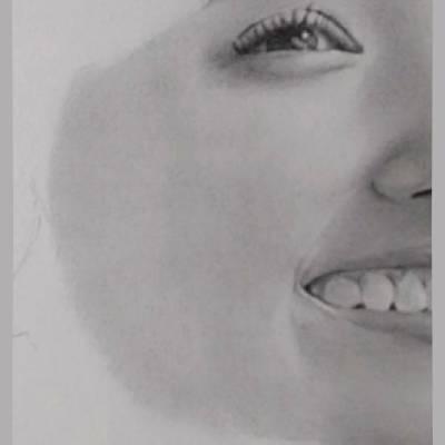 鉛筆画のリアルな絵の肌のぼかし方11