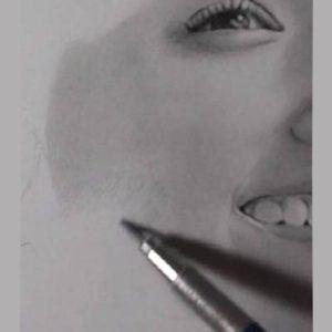 鉛筆画のリアルな絵の肌のぼかし方2