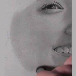 鉛筆画のリアルな絵の肌のぼかし方5