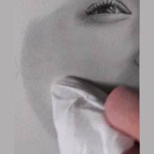 鉛筆画のリアルな絵の肌のぼかし方6