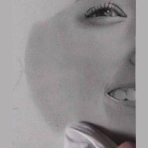 鉛筆画のリアルな絵の肌のぼかし方7