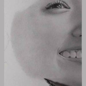鉛筆画のリアルな絵の肌のぼかし方9