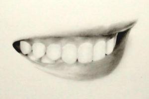 リアルな絵の描き方-歯の描き方-完成