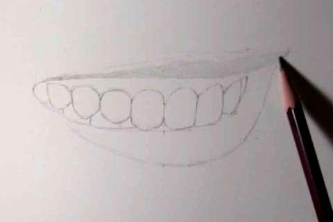 リアルな絵の描き方-歯の描き方10