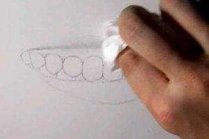 リアルな絵の描き方-歯の描き方12