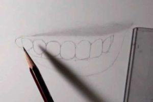 リアルな絵の描き方-歯の描き方13