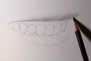 リアルな絵の描き方-歯の描き方14