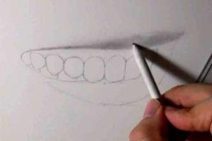 リアルな絵の描き方-歯の描き方15