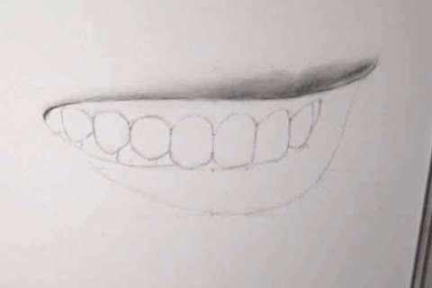 リアルな絵の描き方-歯の描き方16