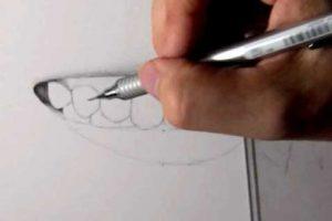 リアルな絵の描き方-歯の描き方17