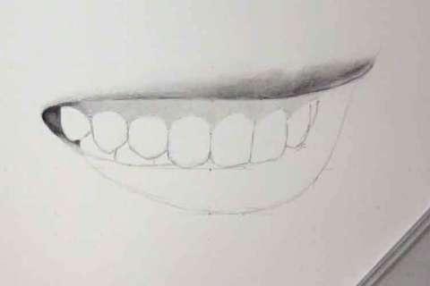 リアルな絵の描き方-歯の描き方18