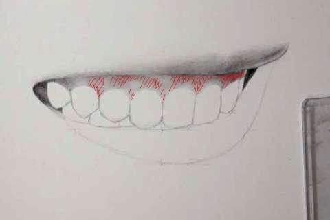 リアルな絵の描き方-歯の描き方19-