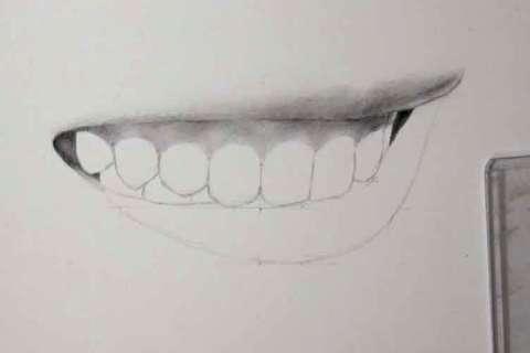 リアルな絵の描き方-歯の描き方19