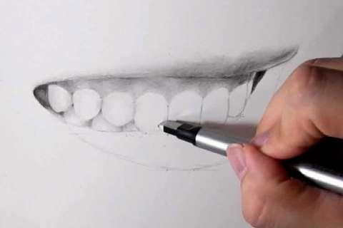 リアルな絵の描き方-歯の描き方21