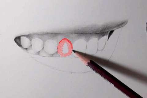 リアルな絵の描き方-歯の描き方22-2
