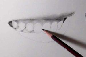 リアルな絵の描き方-歯の描き方22