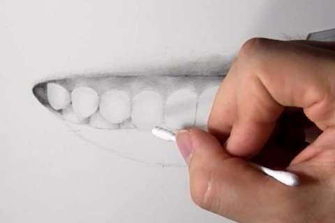 リアルな絵の描き方-歯の描き方23
