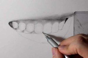 リアルな絵の描き方-歯の描き方24